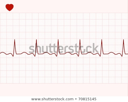 Illustration heart beat and a heart. EPS 8 Stock photo © beholdereye