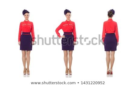 かなり 若い女の子 スカート 孤立した 白 背景 ストックフォト © Elnur