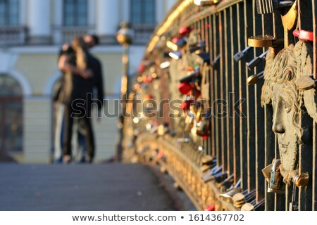 Couple Locked in a Kiss Stock photo © lenm