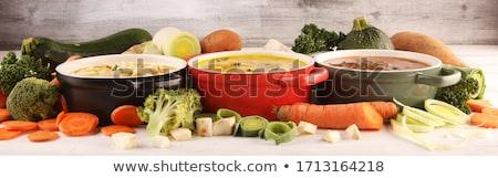vegetal · desenho · animado · comida · verde · engraçado · tomates - foto stock © kariiika