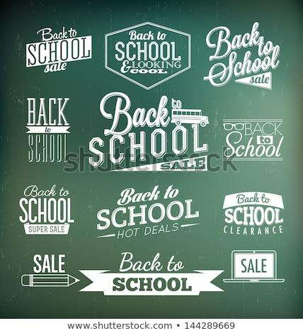 Klasyczny szkoły Tablica czarny czyste drewna Zdjęcia stock © kraska