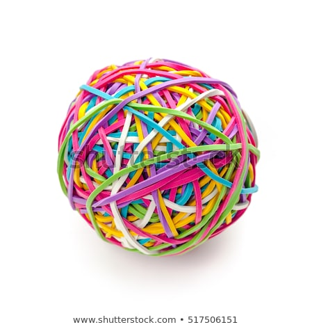 Stock photo: Rubber band ball on white
