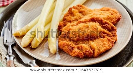白 アスパラガス ぱりぱり パン 食品 野菜 ストックフォト © Digifoodstock