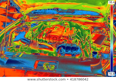 Thermal Image of Car Engine Stock photo © smuki