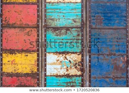 öreg · garázs · ajtó · viharvert · törött · ablakok - stock fotó © digifoodstock