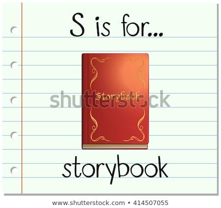 Brief verhalenboek illustratie achtergrond kunst onderwijs Stockfoto © bluering