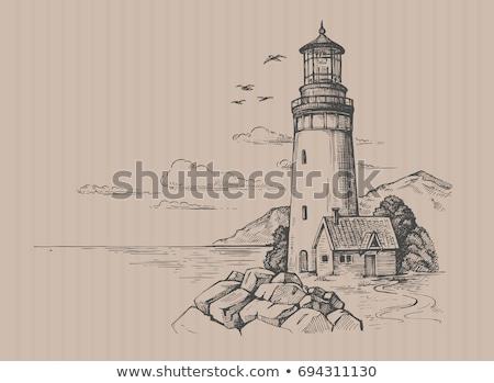 lighthouse vector illustration  Stock photo © nezezon