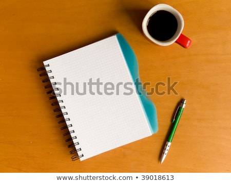 A Newspaper On A Wooden Desk - School And Education Stockfoto © AGfoto