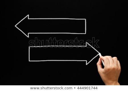 Blank Arrows Concept Blackboard Stock photo © ivelin