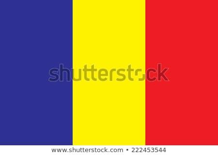 Bandiera Chad illustrazione bianco segno rosso Foto d'archivio © Lom