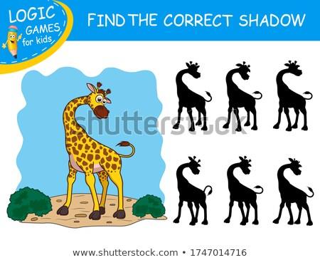 Gioco modello accoppiamento giraffa illustrazione sfondo Foto d'archivio © bluering