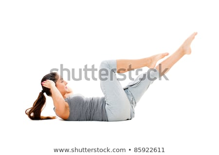 sarışın · kadın · çalışma · egzersiz · uygunluk · stüdyo · kadın - stok fotoğraf © artfotodima