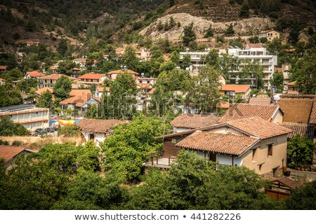 Famous picturesque Mountain Village resort of Kakopetria. Nicosi Stock photo © Kirill_M