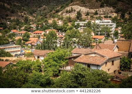 village · Chypre · mur · nature · rue · voitures - photo stock © kirill_m