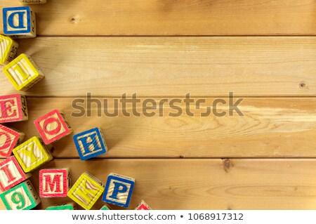 Palabra oficina herramientas mesa de madera escuela pluma Foto stock © fuzzbones0