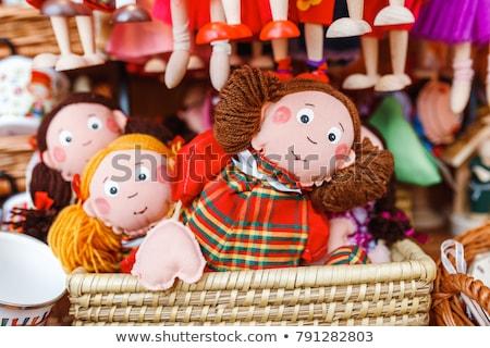 Filles beaucoup marionnette poupées illustration fille Photo stock © bluering