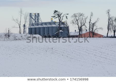 farm granary prairie canada auger stock photo © pictureguy