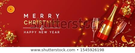 коктейль · оранжевый · Рождества · долька · апельсина · границе · стекла - Сток-фото © orson
