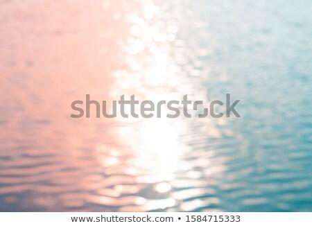 su · yüzeyi · gün · batımı · yansımalar · bahar · güzellik - stok fotoğraf © stevanovicigor