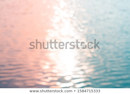 Wasseroberfläche Sonnenuntergang abstrakten Natur Umwelt Wasser Stock foto © stevanovicigor