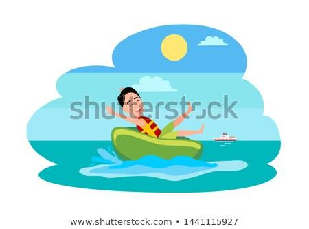 Dibujo hombre actividad ilustración blanco Foto stock © bluering