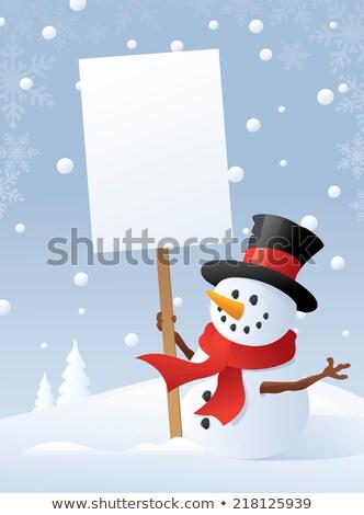 sneeuwpop · grappig · weinig · sneeuw - stockfoto © lightsource