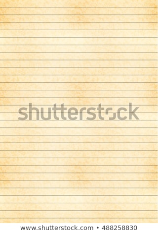 Vertical a4 size yellow sheet of old paper stock photo © Evgeny89