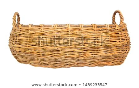 Wicker basket with two hands, isolated on a white background. Stock photo © justinb