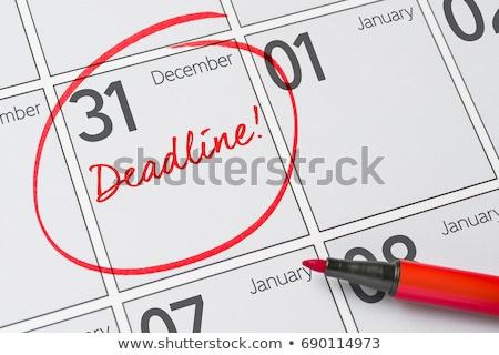 datum · kalender · einde · maand · ondiep · teken - stockfoto © zerbor