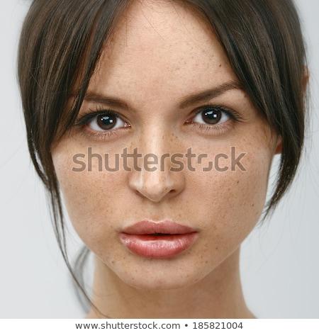 Blue adult female eyes without make up Stock photo © stevanovicigor