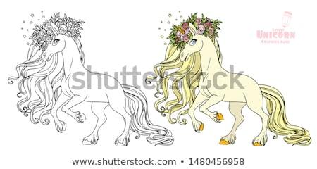 carreras · de · caballos · malhumorado · conductor · hombre · deporte · caballo - foto stock © vectorworks51