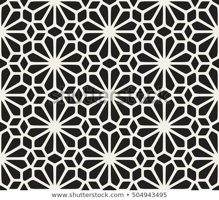 Vector Seamless Black And White Rounded Triangle Grid Geometric Pattern Stock photo © CreatorsClub