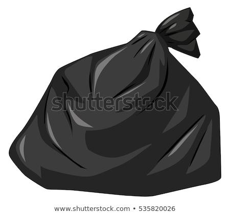 Hulladék táska fekete szín illusztráció háttér Stock fotó © bluering