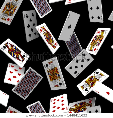 Aces playing cards seamless pattern Stock photo © day908