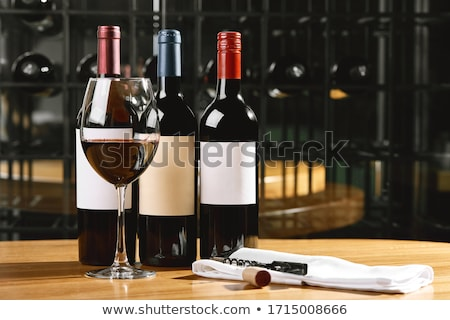 bouteille · verre · vin · rouge · 3d · illustration · rouge · blanche - photo stock © bluering