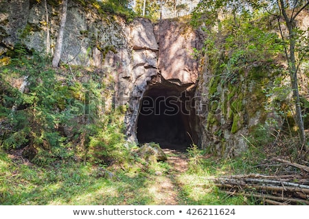 ストックフォト: 鉱山 · 入り口 · 山 · 実例 · 風景 · 背景