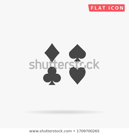 Four aces playing cards and suits flat icons Stock photo © day908