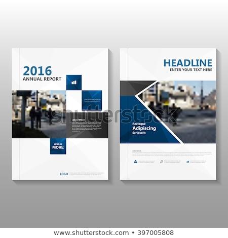 синий черный бизнеса брошюра дизайна листовка Сток-фото © SArts