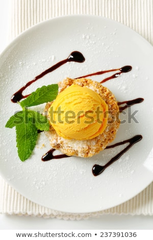Cornmeal and almond cookie with ice cream Stock photo © Digifoodstock