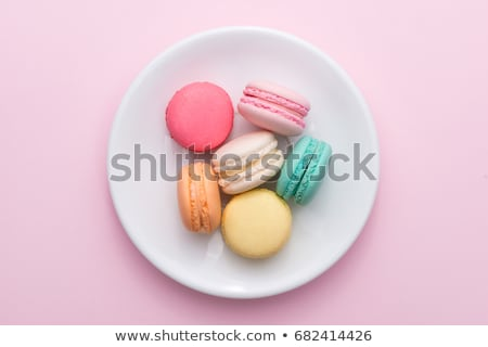 traditional french colorful macarons on the plate stock photo © capturelight