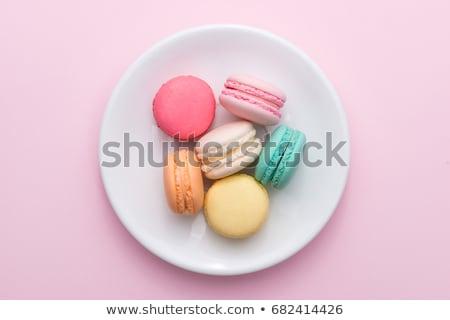 традиционный французский красочный macarons пластина серый Сток-фото © CaptureLight