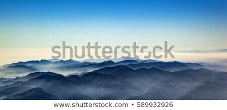 aerial of mountain ridge od Los Angeles valley Stock photo © meinzahn