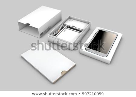 witte · geschenkdoos · 3D · heldere - stockfoto © tussik