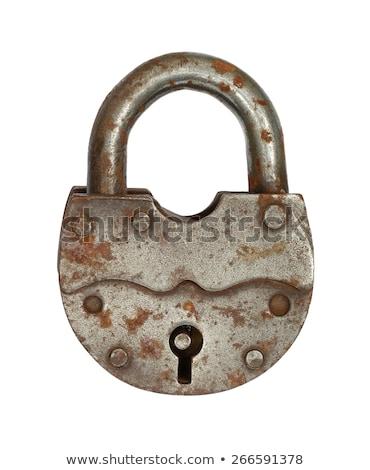 cadeado · ferro · porta · segurança · trancar · antigo - foto stock © maryvalery