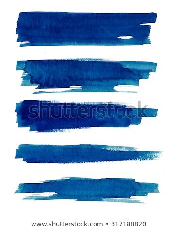 Set of blue brush strokes Stock photo © bluering