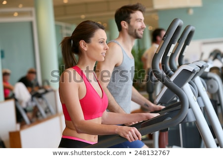 Sportos férfi nő kardio képzés program Stock fotó © vlad_star