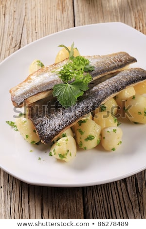 pan fried trout fillets with potatoes stock photo © digifoodstock