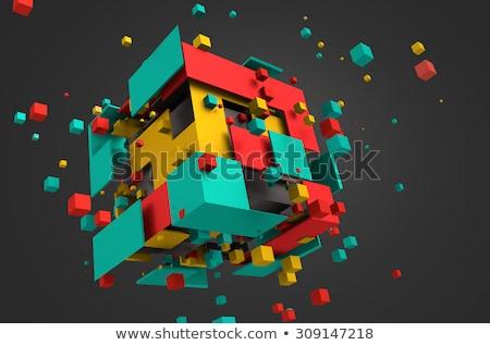 Abstract 3D geometrica particelle Foto d'archivio © SArts