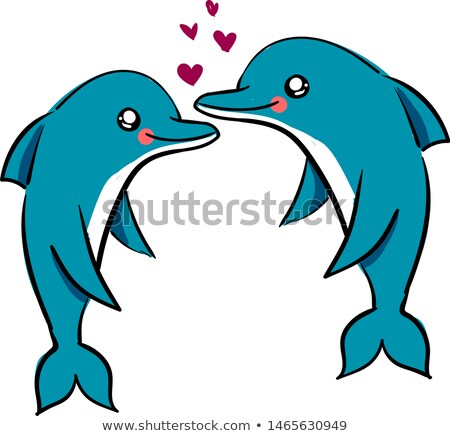 Beautiful and lovely dolphins Stock photo © orla