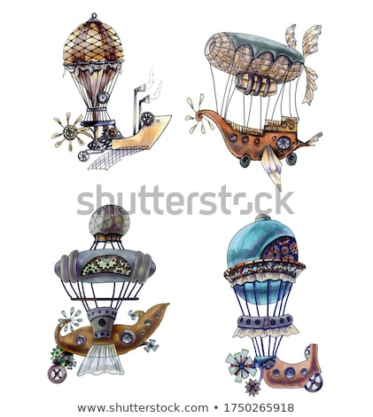 Fantastic retro dirigible Stock photo © sharpner